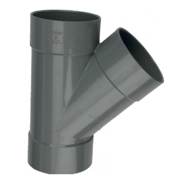 PVC T-STUK 45° LIJMMOF