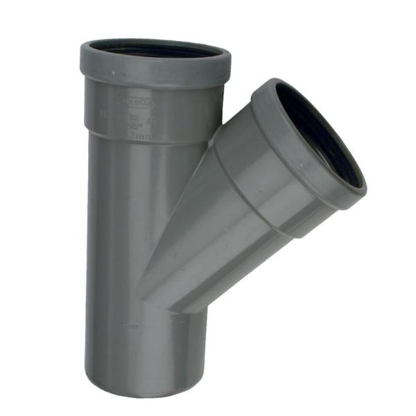 PVC T-STUK 45° MANCHET-SPIE