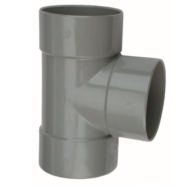 PVC T-STUK 90° LIJMMOF