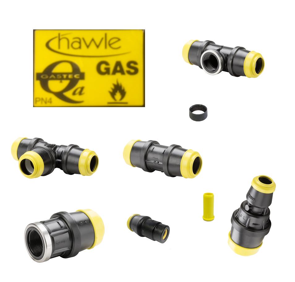 hawle pe gas koppelingen zwart geel